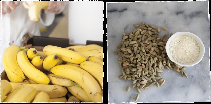 Banana, Cardamom & White Choc Freckles